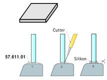 Placchette in PVC morbido per lastre in vetro PAULI+SOHN