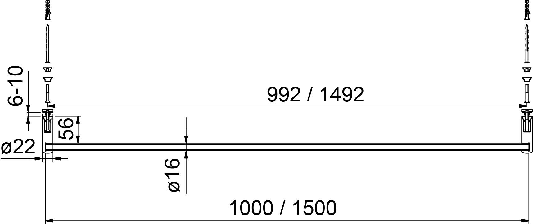 Porte-serviettes 8686 PAULI+SOHN