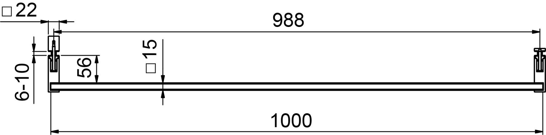 Portasciugamani con pomello 8689 PAULI+SOHN