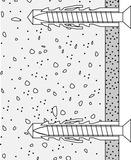 Kit di fissaggio per seggiolino ribaltabile per doccia R 380