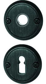 Rosette per maniglie e bocchette per chiavi