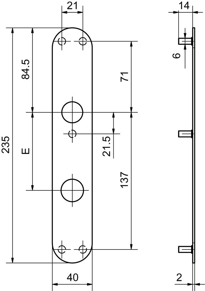 Türschilder für Paniktüren GLUTZ 5345S aussen