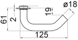 Garnitures de poignées de porte GLUTZ 50100