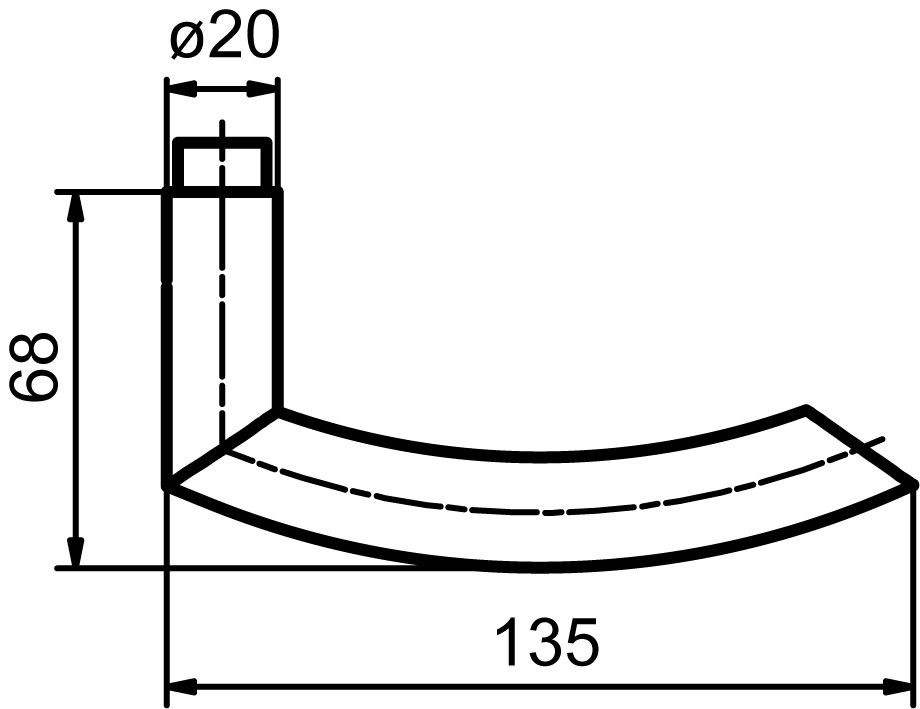 Poignées de porte GLUTZ 5052 Biel