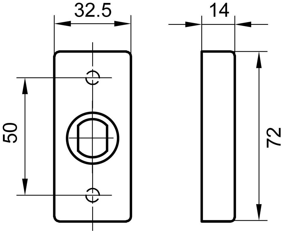 Rosetten für Türknöpfe GLUTZ 6144 CK