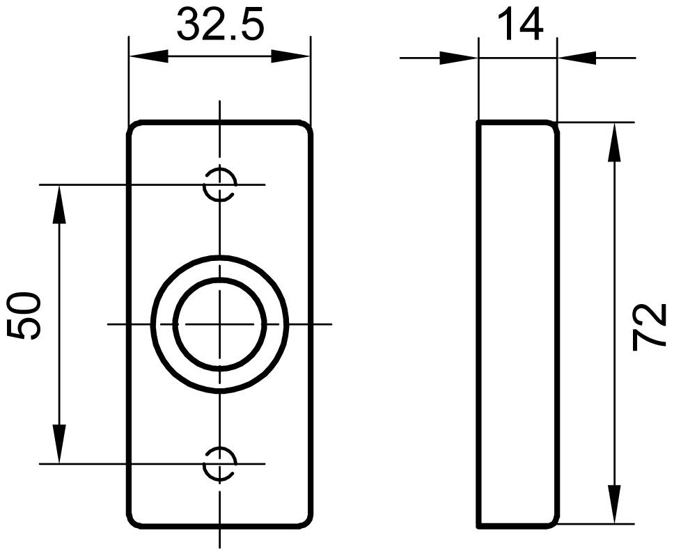 Drückerrosetten GLUTZ 6142 C mit Federunterstützung