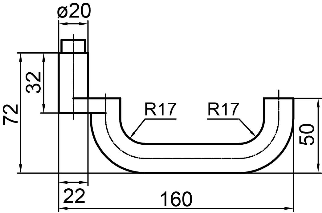 Demi-garnitures de poignée de porte GLUTZ 5059 Oslo
