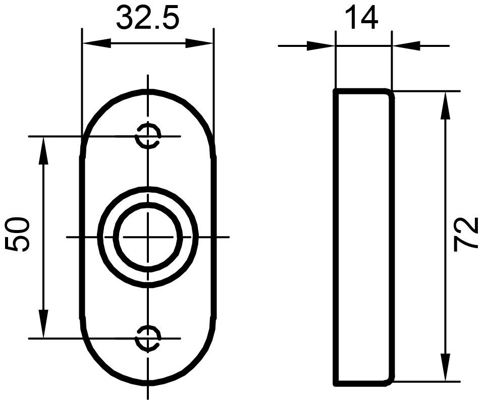 Rosaces pour poignées GLUTZ 5608 C avec ressort