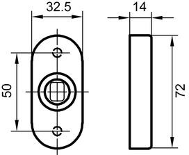 Rosette per pomelli GLUTZ 5610 CK