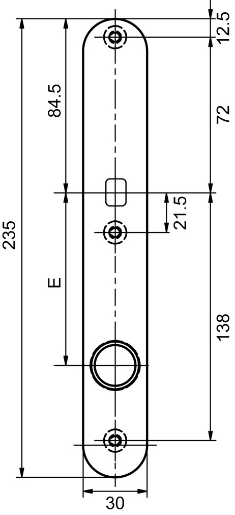 Innentürschilder für Türknöpfe GLUTZ 5345-30 K extra schmal