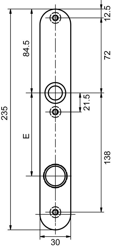 Cartelle lunghe esterne GLUTZ 5345-30 easyfix strette