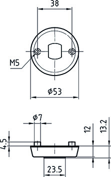 Schutzrosetten GLUTZ Secaport 5630S-K/5630C für Türknöpfe