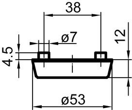 Rosaces de protection extérieures massif GLUTZ 5330S Secaport