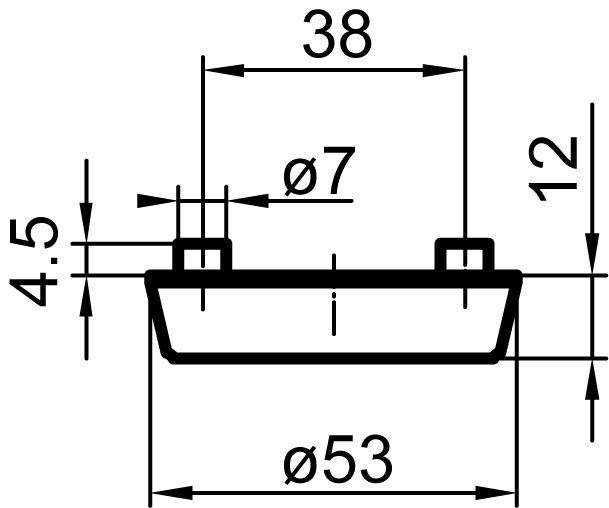 Aussenschutzrosetten massiv GLUTZ 5330S Secaport