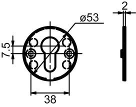 Piatto entrées de clé GLUTZ 51031 intérieure