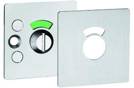 Rosette per porte WC a filo GLUTZ 51013.4 esterno