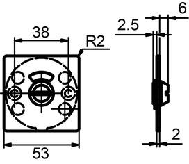 Piatto rosaces pour portes WC GLUTZ 51033.4 extérieure
