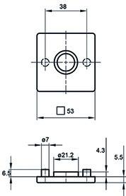 Rosaces pour poignées GLUTZ glide/easyfix 5623 C