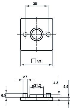 Drückerrosette GLUTZ glide/easyfix 5623 C