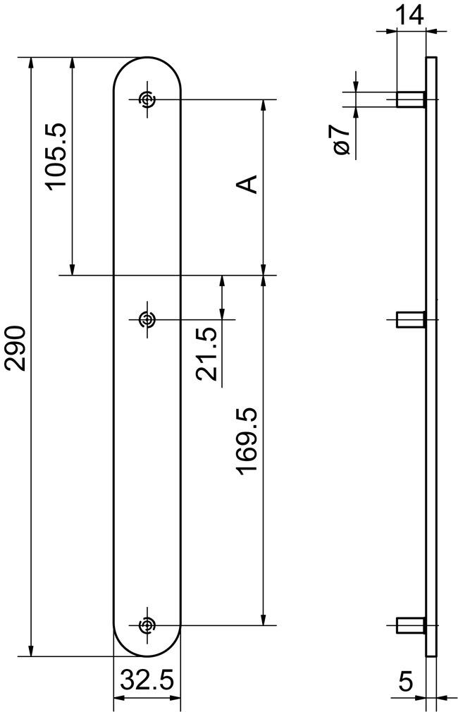 Cartelle lunghe cieche esterne GLUTZ 52150/52152
