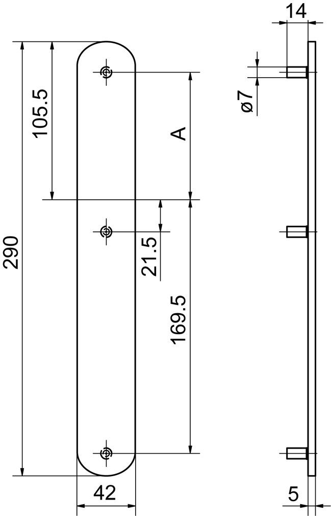 Cartelle lunghe cieche esterne GLUTZ 52156
