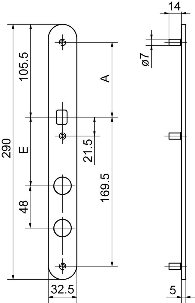 Entrées extérieures pour boutons GLUTZ 52152K