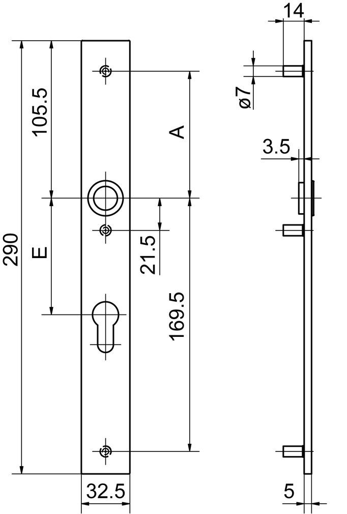 Cartelle lunghe esterne GLUTZ 52140/52142 easyfix
