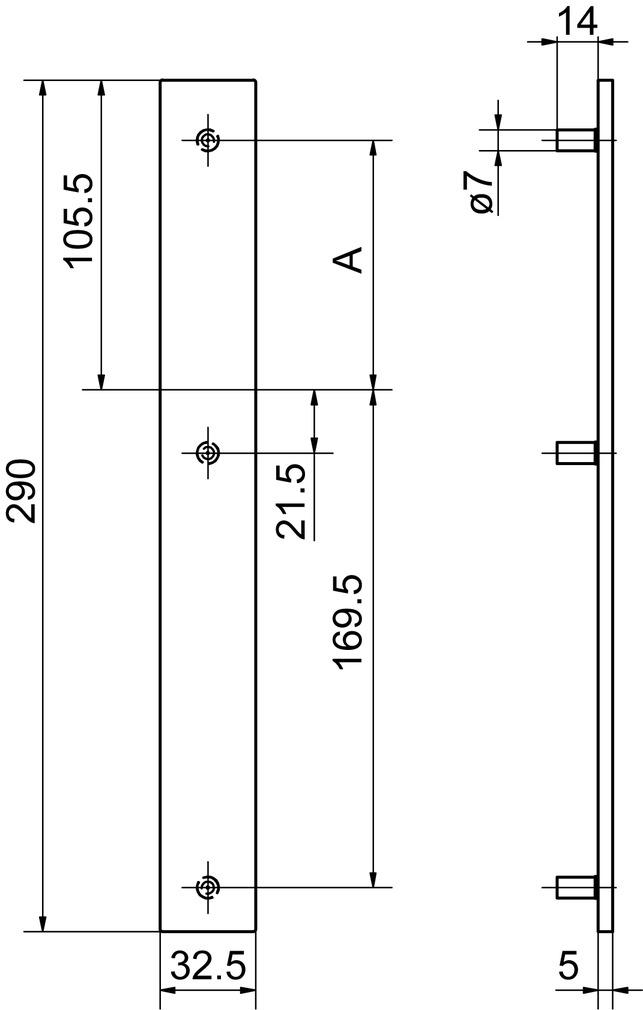 Blindschilder aussen GLUTZ 52140