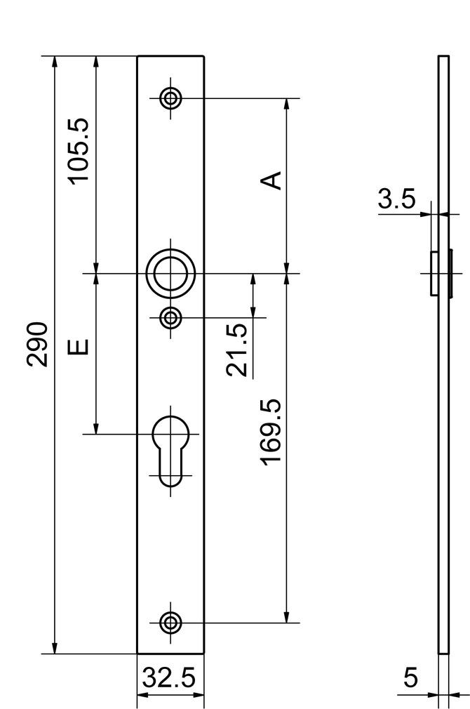 Cartelle lunghe interne GLUTZ 52141/52143 easyfix