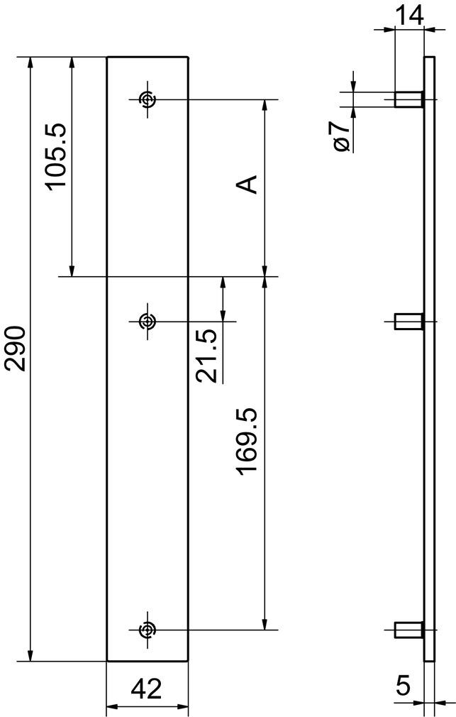 Cartelle lunghe cieche esterne GLUTZ 52144/52146