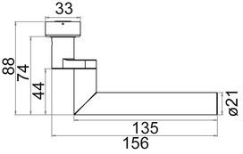 Demi-garnitures de poignée de porte OK-LINE
