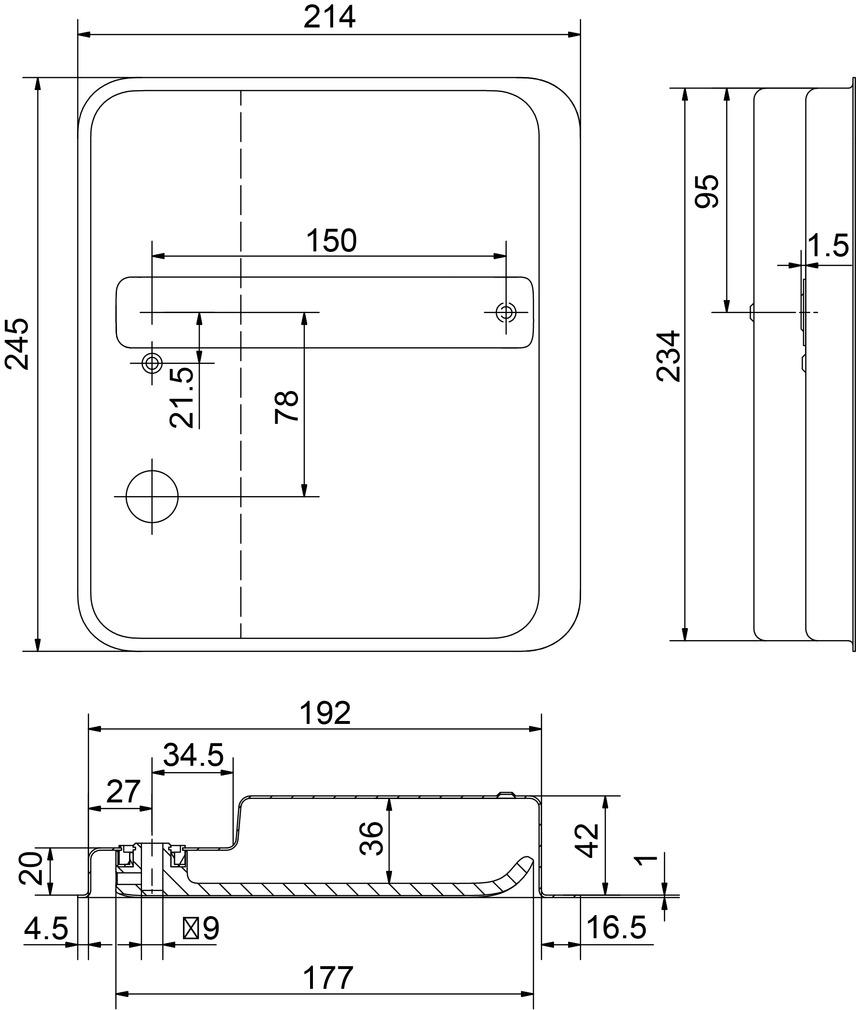 Einlass-Flachdrückergarnituren HEUSSER 656S42