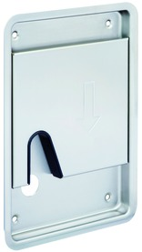Garnitures de poignées de portes coulissantes à entailler HEUSSER 5198