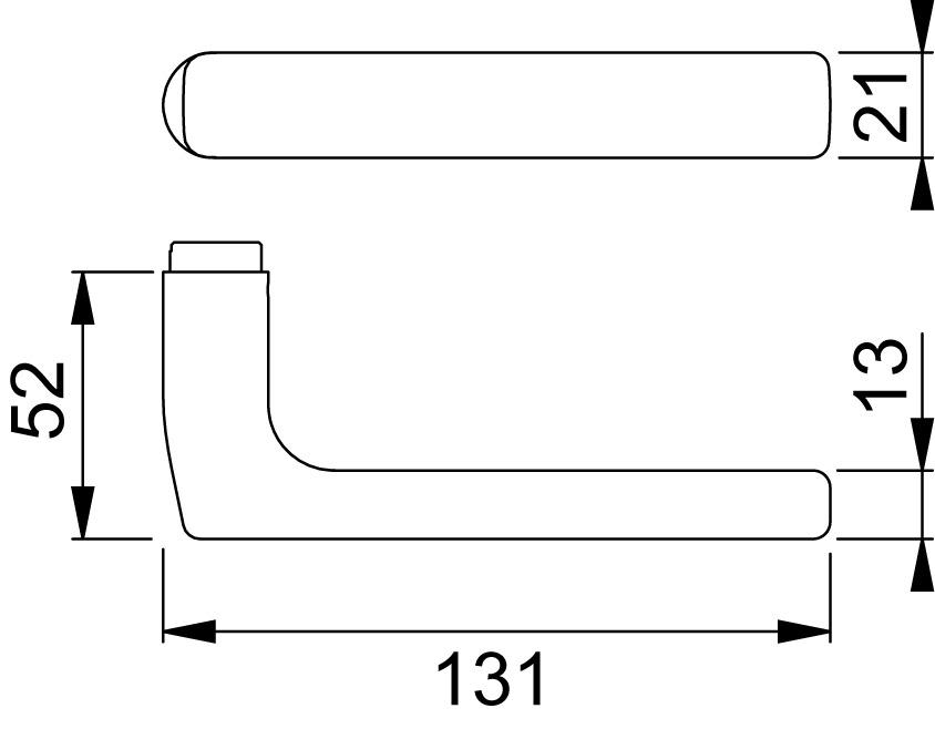 Poignées de porte HOPPE E1643Z Dallas