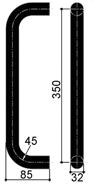 Maniglioni per porte a vento OGRO TG 9355