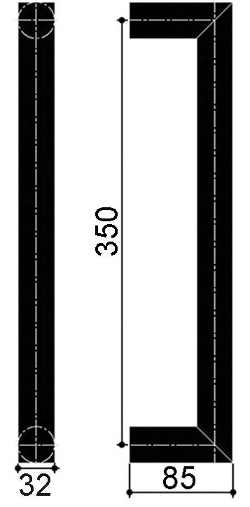 Maniglioni per porte a vento OGRO TG 9335