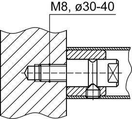 Kit di montaggio DORMA GZ 234