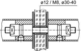 Kit di montaggio DORMA GZ 215