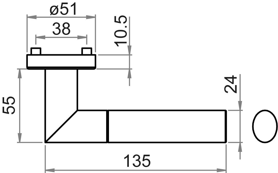 Garnitures de poignées de porte GRIFFWERK Arica