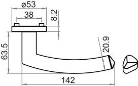 Guarnizioni di maniglie per porte GRIFFWERK Jette Crystal Professional
