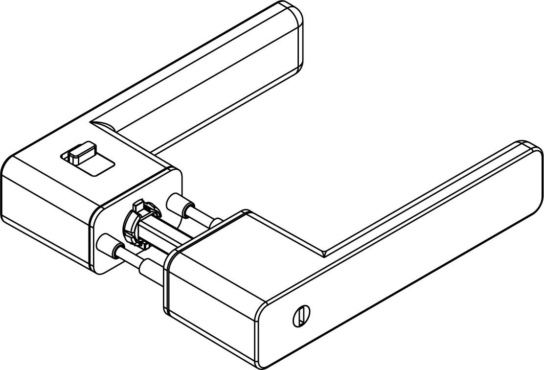 Drückergarnituren GRIFFWERK R8 ONE smart2lock