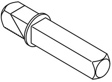 Perni di raccordo per serrature con cricca apribile a chiave HEWI 72.7B