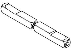 Perni di raccordo per guarnizioni di maniglie antipanico BKS B-78430