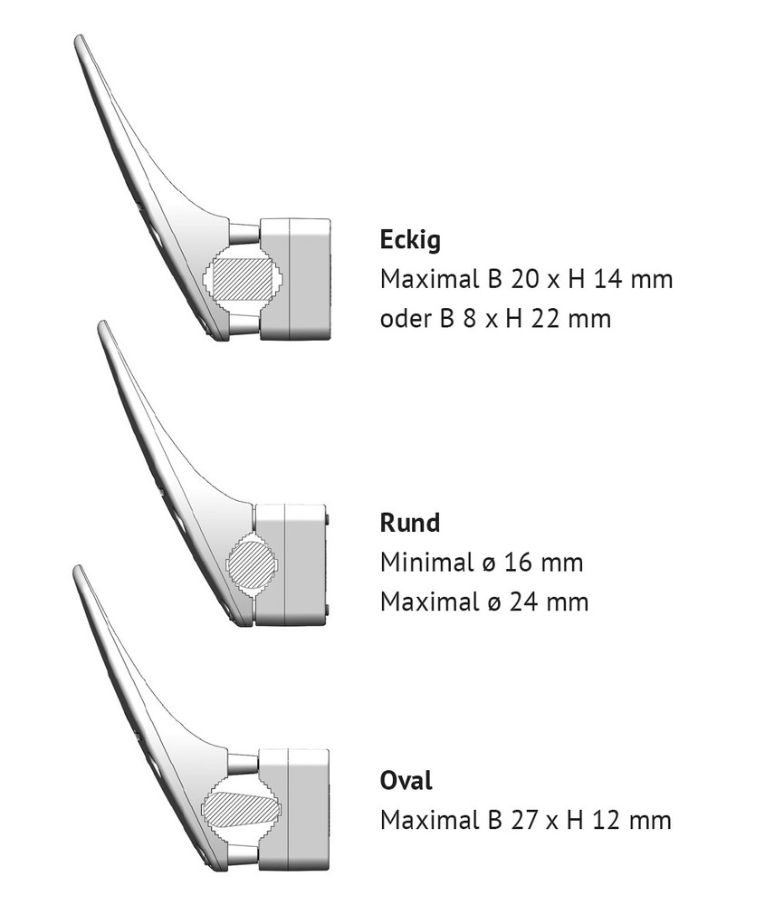 Adaptateur de poignée de porte hygiénique CardaTec® H1