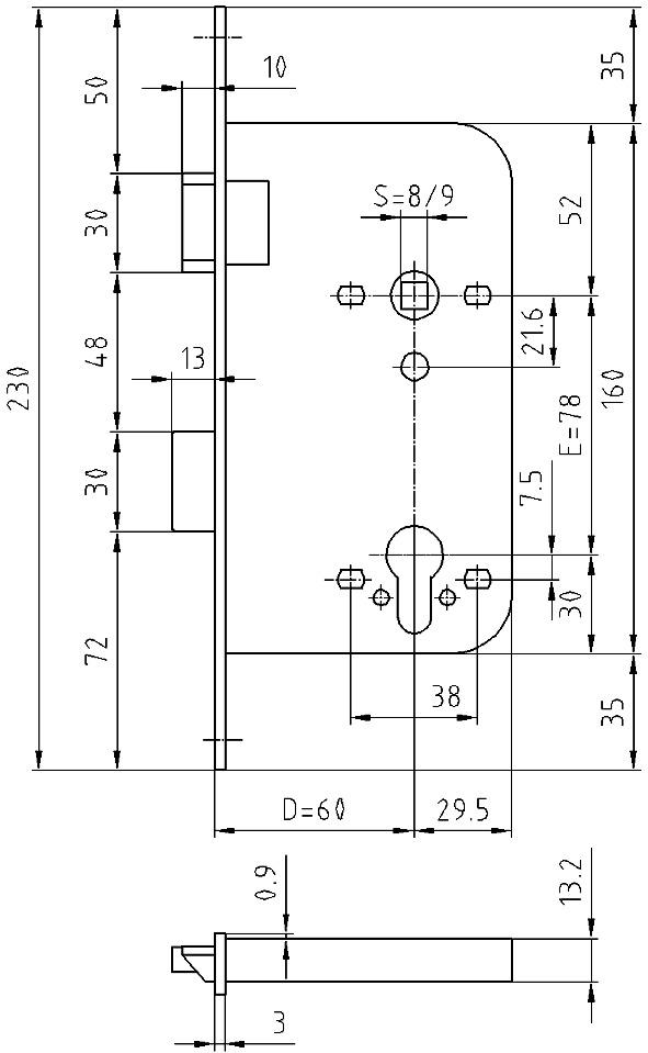 Einsteckschlösser GLUTZ 1106