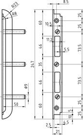 Einfrässchliessbleche GLUTZ B-1150