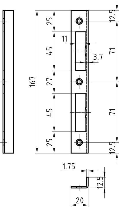 Controcartelle rettangolari GLUTZ B-1102