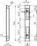 Kappenschliessbleche GLUTZ B-1001.531