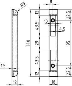 Kappenschliessbleche GLUTZ B-1102