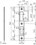 Lappenschliessbleche GLUTZ B-1102